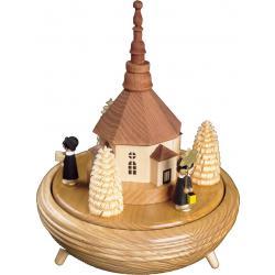 Richard Glässer - Spieldose  Kurrende mit Seiffener Kirche, 18er Spielwerk