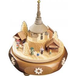 Richard Glässer - Spieldose  Seiffener Weihnachtsmarkt, 18er Spielwerk