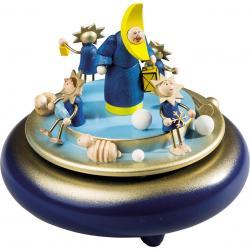 Richard Glässer - Spieldose  Mond mit Sternenquartett, 18er Spielwerk