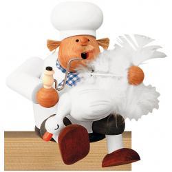 KWO - Räuchermann Kantenhocker-Koch mit Gans