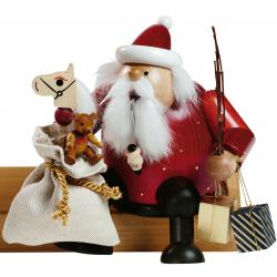 KWO - Räuchermann Kantenhocker-Weihnachtsmann
