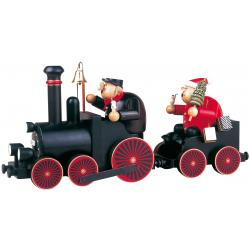 KWO - Räuchermann Lokführer mit Eisenbahn, 2 tlg.