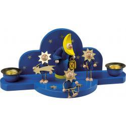 Richard Glässer - Kerzenhalter Mond mit Sternentrio