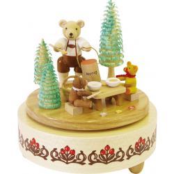 Richard Glässer - Spieldose Honigbärchen, 18er Spielwerk
