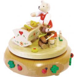 Richard Glässer - Spieldose Bärenwiege, 18er Spielwerk