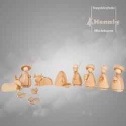 Hennig Figuren - moderne Weihanchtskrippe komplett, groß natur