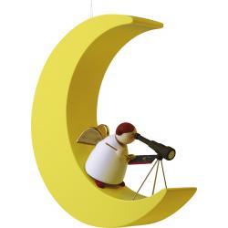 Günter Reichel - Schutzengel mit Fernrohr im Mond