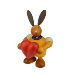 Drechslerei Martin - Hase mit Herz gelb groß maxi