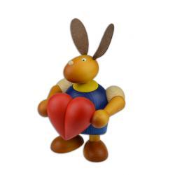 Drechslerei Martin - Hase mit Herz blau groß maxi