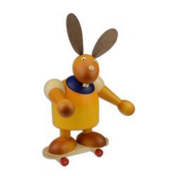 Drechslerei Martin - Hase auf Skateboard gelb, groß maxi