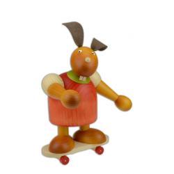 Drechslerei Martin - Hase auf Skateboard rot, groß maxi