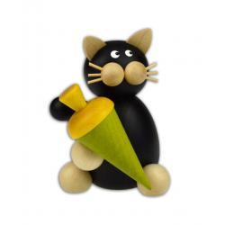 Drechslerei Martin - Katze Hilde mit schultüte