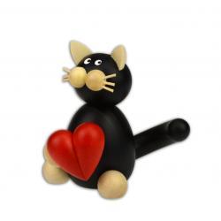 Drechslerei Martin - Katze Hilde mit Herz