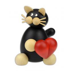 Drechslerei Martin - Katze Hilde mit Herz, groß