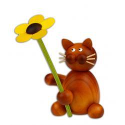 Drechslerei Martin - Kater Charlie mit Blume