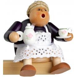 KWO - Räuchermann Kantenhocker Kaffeesächsin