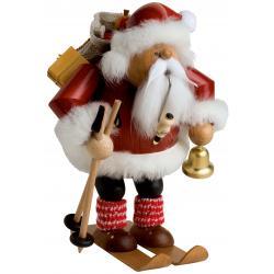 KWO - Räuchermann Weihnachtsmann auf Skier