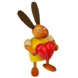 Drechslerei Martin - Hase mit Herz gelb