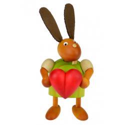 Drechslerei Martin - Hase mit Herz grün