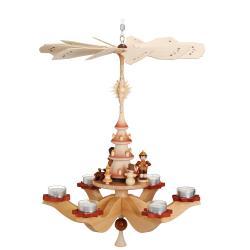 Zeidler - Hängepyramide Winterkinder, natur, für 6 Teelichter