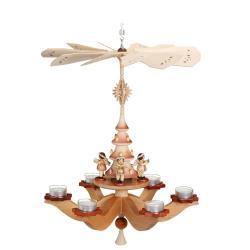 Zeidler - Hängepyramide Engel, natur, für 6 Teelichter