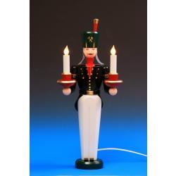 Schalling - Lichterengel und Bergmann, elektrisch beleuchtet, 49 cm farbig