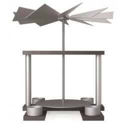 Günter Reichel - Pyramide LUMA, achatsilber, Tüllen für Teelicht, Farbe: aluminium - natur
