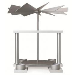 Günter Reichel - Pyramide LUMA, weiß, Tüllen für Teelicht, Farbe: aluminium - natur