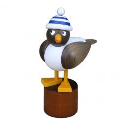 Drechslerei Martin - Möwe grau, mit blauer Ringelmütze