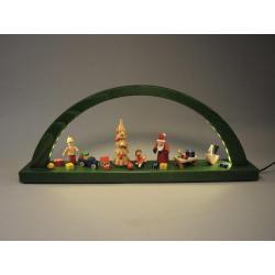 Richard Glässer - LED-Schwibbogen Weihnachtsbescherung