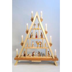 Richard Glässer - Lichterspitze Christi Geburt, elektrisch beleuchtet
