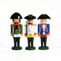 Walter Werner - Miniatur Nussknacker - Franzosen 3 Stück sortiment