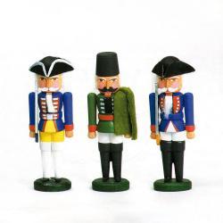 Walter Werner - Miniatur Nussknacker Preuss.Offiziere 3 Stück sortiment