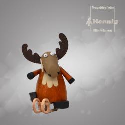 Hennig Figuren - Elch mit Schlitten