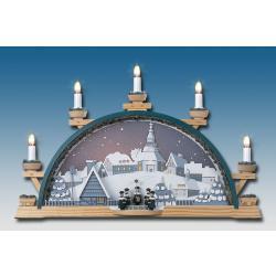 Klaus Kolbe - Schwibbogen Sternhimmel 5 elektrische Kerzen