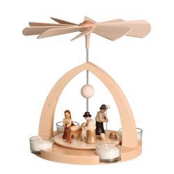 Frank Weber - Pyramide mit Christi Geburt traditionell, rund