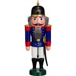 Seiffener Volkskunst eG - Nussknacker Soldat blau