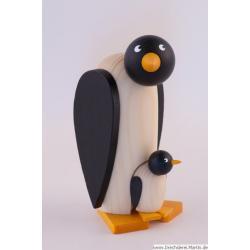 Drechslerei Martin - Pinguin mit Kind
