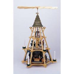 Walter Werner - Bergmannspyramide mit Mettenschicht