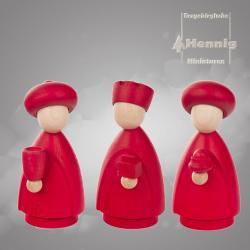 Hennig Figuren - Heiligen 3 Könige modern groß natur/rot