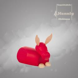 Hennig Figuren - Esel modern groß natur/rot