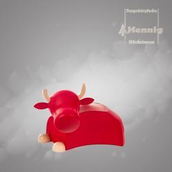 Hennig Figuren - Ochse modern groß natur/rot