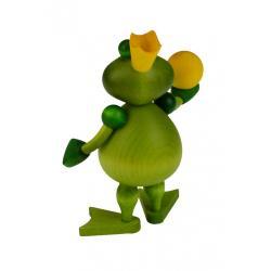 Drechslerei Martin - Froschkönig mit Kugel in der Hand