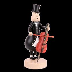 KuK Holzdesign - Räuchermännchen Cellist Johann 25 cm