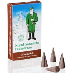 Crottendorfer Räucherkerzen - Adventsduft, 100 Pack.