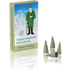 Crottendorfer Räucherkerzen - Räucherkerzen Weihrauch - Melisse, 100 Pack.