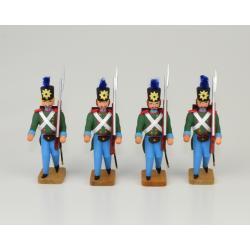 Walter Werner - 4 Soldaten mit Seitengewehr