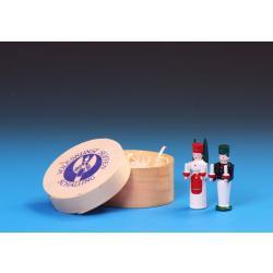 Schalling - Miniatur Bergmann & Engel in Spandose 4,5 cm