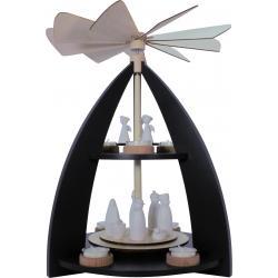 Rauta Edition FG - 2-stöckige Pyramide modernes Design anthrazitgrau Krippefiguren weiß