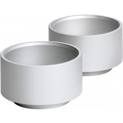 Günter Reichel -LUMA Teelichthalter , aluminium - natur, 4-teilig